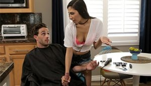 Fuck Stepsis Gianna Dior For A Haircut