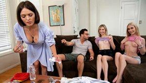 Threesome With Cute Teens - Emma Starletto, Mackenzie Moss