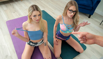 Sexy Yoga With Teens Kyler Quinn, Lily Larimar